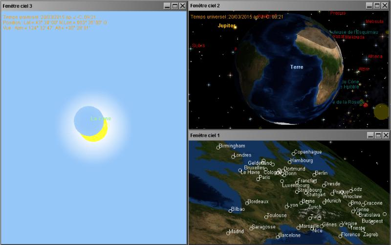 Détail de l`éclipse solaire du 20 mars 2015